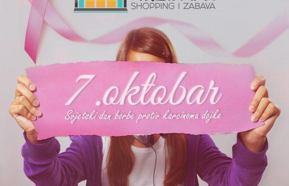 Obilježavanje borbe protiv karcinoma dojke u Robnoj kući Tuzlanka