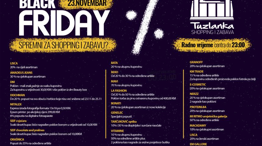 23. Novembar: Tuzlanka, mjesto najboljeg shoppinga i zabave!
